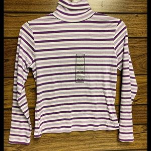 Girls purple/ white with silver turtleneck 10/12